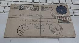 Malaysia Malaya Penang Cover Registered Air Mail To Penang 1 Jun 1968 - Malaysia (1964-...)
