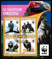 Bloc Feuillet Oblitéré - Le Vautour Oricou (Torgos Tracheliotos) - N° 1319/1322KB (Michel) - République De Djibouti 2016 - Dschibuti (1977-...)