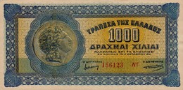 GREECE 1000 ΔΡΑΧΜΕΣ (DRACHMAS) 1941 P-117 XF+/AU  [GR117] - Greece