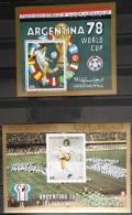 Y31 -  Yemen AR 1980 Mi. Block 197/8 MNH S/S Minisheets - Argentina Football FIFA World Cup - Yemen