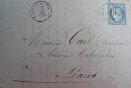 R1861/719 - ✉️ - CERES N°60A - GC 1515 (INDICE 5) FLAVY-LE-MARTEL (Aisne) 27 MAI 1873 > PARIS - 1871-1875 Cérès