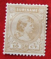 Koningin Wilhelmina 10 Ct NVPH Nr: 23 1892 No Gum MH / Ongebruikt SURINAME / SURINAM - Surinam ... - 1975