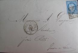 """R1861/720 - ✉️ - CERES N°60A - Cachet AMBULANT """" PB 2* """" - CàD : BORDEAUX à PARIS 2* (C) 30 OCTOBRE 1872 - 1871-1875 Cérès"""
