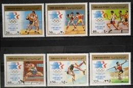 Y31 -  Yemen AR 1985 Mi. 1807/12 Complete Set 6v. MNH  - 1984 Los Angeles Olympic Games - Yemen