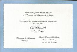Saint-Louis & Mulhouse (68) Sébastien Maire (père : Jean-Paul ; Mère : Bernadette Masson) 2 Scans 1975 - Naissance & Baptême