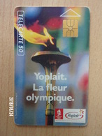 F129 Yoplait Flamme Olympique 50U GEM 1990 - Jeux Olympiques