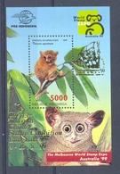 Mgm2000 FAUNA AAP APEN ZOOGDIEREN * OPDRUK OVERPRINT * MONKEYS MAMMALS APES AFFEN SINGES INDONESIA 1999 PF/MNH - Monkeys