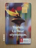 F129A Yoplait Flamme Olympique 50U GEM 1992 - Jeux Olympiques