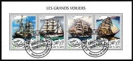 Bloc Feuillet Oblitéré - Les Grands Voiliers Palinuro ARC Gloria USCGC Eagle STS Sedov - République De Djibouti 2018 - Dschibuti (1977-...)