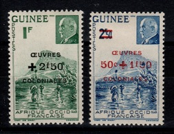 Guinee YV 185 & 186 N* Oeuvres Coloniales Cote 1,60 Eur - Guinée Française (1892-1944)