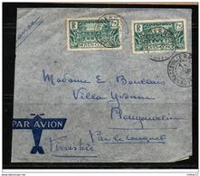 LETTRE  CONGO   N°  128A (2) Oblitérés  Brazzaville  Du 17/10/1936 - Frans-Kongo (1891-1960)