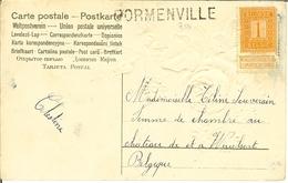 CP Avec Fleurs Et Griffe De BORMENVILLE . ( RARE ) - Marcophilie