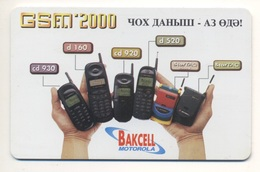 AZERBAIJAN Phonecard Telecard Chip Card 140 Units GSM 2000 Bakcell MOTOROLA Advertising - Azerbaïjan