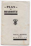 Plan De BIARRITZ Dressé Par J.BOUSSUGE - Disegno Tecnico