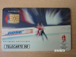 F216 Bose Patinage Artistique 50U S03 - Jeux Olympiques