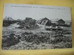 49 8709 - RARE - 49 NOYANT LA GRAVOYERE - CARRIERES DE MISENGRAIN - LES ATELIERS. - Andere Gemeenten
