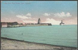 The Pier, Port Dover, Ontario, C.1910 - J E Evans Postcard - Ontario