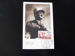 CARTE MAXIMUM    GENERAL  LECLERC - Covers & Documents