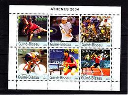 Olympics 2004 - Tennis - Cycling - GUINEA BISSAU - Sheet MNH** - Verano 2004: Atenas