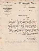 Facture 1901 / L. MONTIGNY / Travail Du Bois / Meubles / Fontaine L' Evêque / Belgique - België