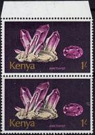 A1211 KENYA 1977, SG 114  Minerals, MNH Pair - Kenya (1963-...)