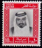 J0088 QATAR 1972, SG 410  10r  Sheikh Khalifa,  MNH - Qatar