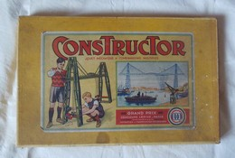 CONSTRUCTOR - JOUET MECANIQUE A COMBINAISONS MULTIPLES DANS SA BOÎTE D' ORIGINE. ANNEE 19??. CONCOURS LEPINE - Andere Verzamelingen