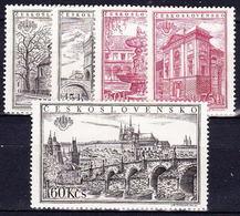 ** Tchécoslovaquie 1955 Mi 934-8 A (Yv 828 A-E Dentelé), (MNH) - Unused Stamps