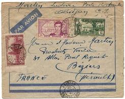 Cote D'Ivoire Lettre Avion Abidjan 30 Sept 1941 Ivory Coast Airmail Cover Caillé + Divers Explorateur Carte Map - Ivoorkust (1892-1944)