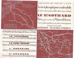 Publicité CHEMINS DE FER DE L'EST -  LE ST GOTHARD - Paris > Milan En 13 HEURES - Transports