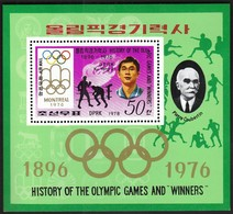 DPR Korea 1978 / Olympic Games Montreal 1976 / Winner Ku Yong Jo / Boxing / Pierre De Coubertin / Michel Bl 51 / MNH - Summer 1976: Montreal