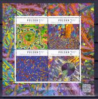 Polen Block 'Schönheit Der Metalle' / Poland M/s 'Beauty Of Metals' **/MNH 2015 - Mineralien