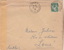Lettre Censurée De COLMAR ( GE 05 ). Pour Loué (Sarthe) - Guerre De 1939-45