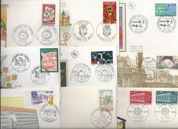 Lot De 15 Enveloppes Ou Cartes Avec Cachet Premier Jour - Gedenkstempels