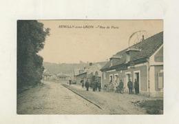 Cpa  SEMILLY SOUS LAON Rue De Paris - Laon