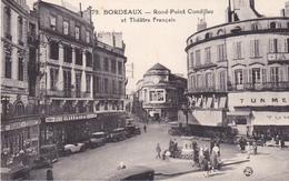 BORDEAUX   EN GIRONDE  ROND POINT CONDILLAC ET THEATRE FRANCAIS CPA CIRCULEE - Bordeaux