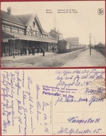 1916 WW1 WWI Feldpost Menen Menin Interieur De La Gare Binnzicht Der Statie Station Geanimeerd (In Very Good Condition) - Menen