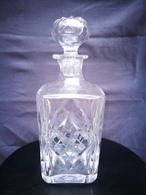 """Carafe En Cristal Saint-Louis Ou BACCARAT Bouchon D'origine Aucun Accrochages """" Model MANHATTAN """" - Glass & Crystal"""