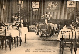 77. CPA. MONTIGNY SUR LOING. Salon De Thé De L'hotel Du Coq. - Autres Communes