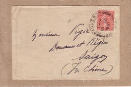 BOUCHES DU RHÔNE , INDOCHINE - LETTRE DEPART MARSEILLE POUR SAÎGON , CACHET PAQUEBOT SINGAPORE - SIGNEE POTHION - 1930 - Marcophilie (Lettres)