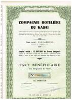 Action Ancienne - Compagnie Hôtelière Du Kasaï - Titre De 1958 - Afrique