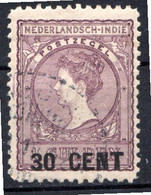 PAYS-BAS - (INDE NEERLANDAISE) - 1917-18 - N° 124 - (Timbre De 1903-12 Surchargé : 30 CENT) - Niederländisch-Indien