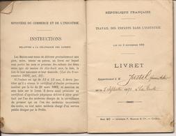LA TESTE GIRONDE LIVRET DE TRAVAIL DES ENFANTS DANS L'INDUSTRIE 1906 - Vieux Papiers
