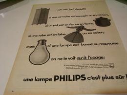 ANCIENNE PUBLICITE  LES LAMPES PHILIPS C EST PLUS SUR 1959 - Music & Instruments