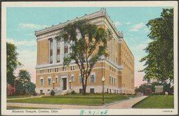 Masonic Temple, Canton, Ohio, 1948 - Ralph Young Postcard - United States