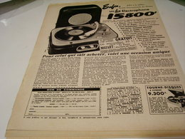 ANCIENNE PUBLICITE ELECTROPHONE VALISE 1954 - Music & Instruments