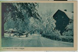 SVERIGE - VINTERBIL  FRAN HAGA - 1932 - ITALIA - Svezia