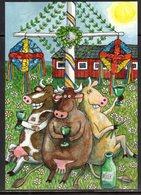 ALAND, 2018,  MINT POSTAL STATIONERY, PREPAID POSTCARD, MID SUMMER FEST, COWS - Celebrations