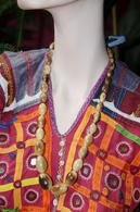 Bijoux-collier-32-perles En Corne De Vaches_1940-1950 - Colliers/Chaînes