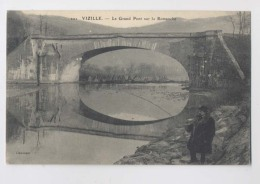 VIZILLE  (38 - Isère) -  Le Grand Pont Sur La Romanche  - Pêcheur à La Ligne - RARE - Vizille